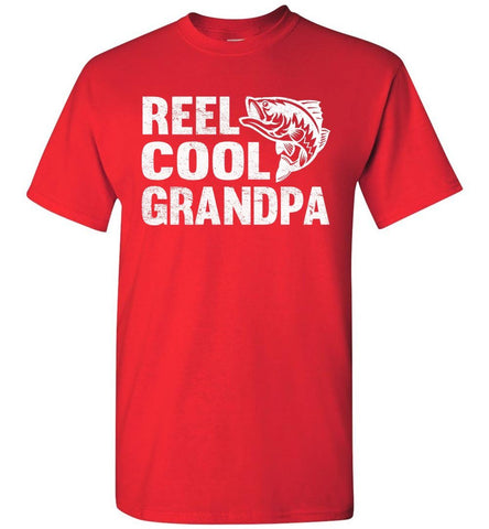 Image of Reel Cool Grandpa Fishing Shirt red