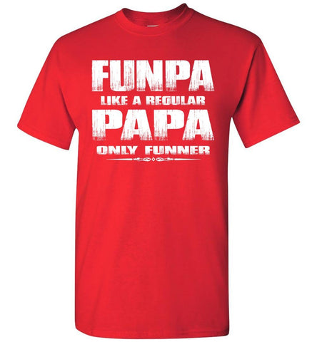 Funpa Funny Papa Shirts red