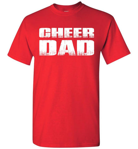 Image of Cheer Dad T Shirt red