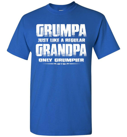 Image of Grumpa Funny Grandpa Shirts | Grandpa Gag Gifts royal