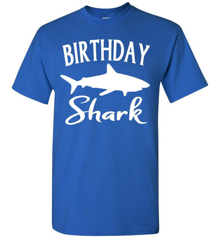 Image of Birthday Shark Shirt unisex royal