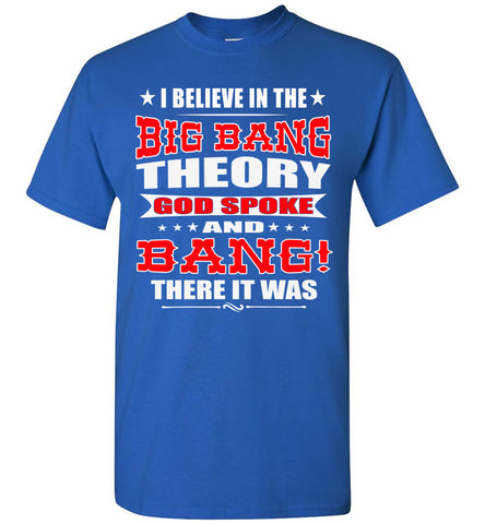 Image of Big Bang Theory Funny Christian Shirts, Creation T Shirt royal