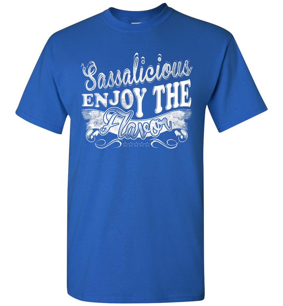 Sassalicious Enjoy The Flavor! Sassy Shirts unisex royal