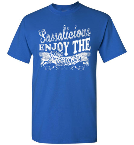 Image of Sassalicious Enjoy The Flavor! Sassy Shirts unisex royal