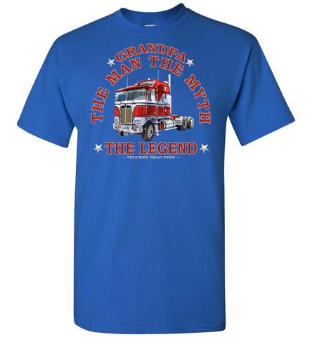 Image of Grandpa The Man The Myth The Legend Trucker Shirt royal