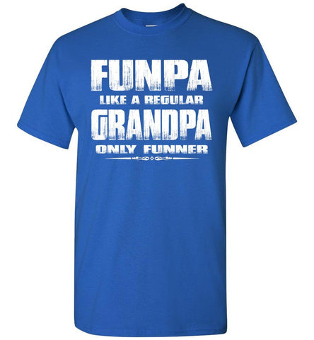 Funpa Funny Grandpa Shirts royal