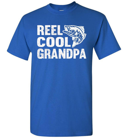 Image of Reel Cool Grandpa Fishing Shirt royal