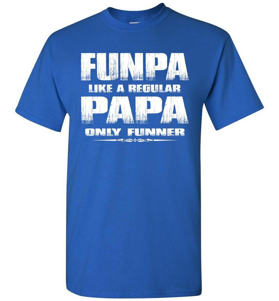 Funpa Funny Papa Shirts royal