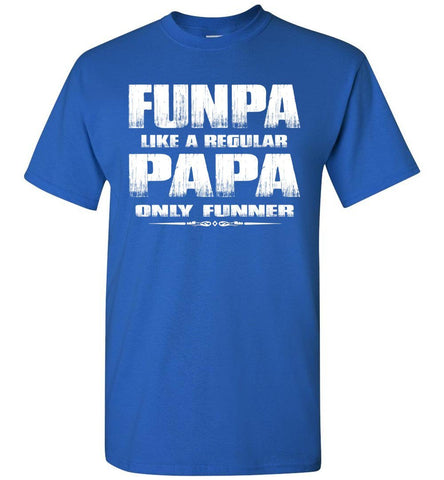 Image of Funpa Funny Papa Shirts royal