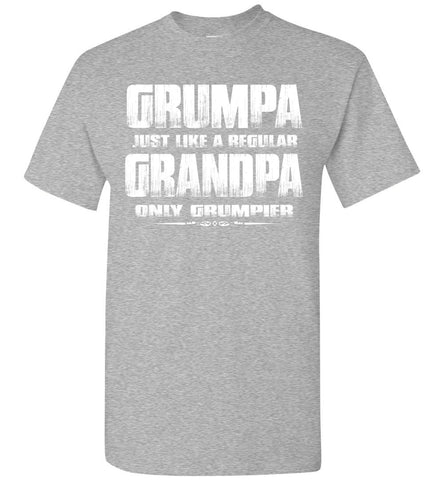 Image of Grumpa Funny Grandpa Shirts | Grandpa Gag Gifts sports gray
