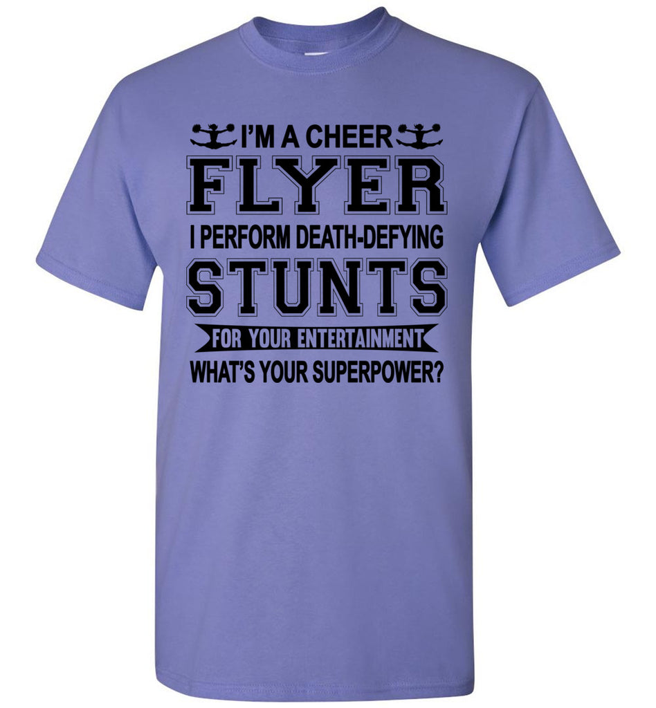 I'm A Cheer Flyer Funny Cheer Flyer Shirts youth violet