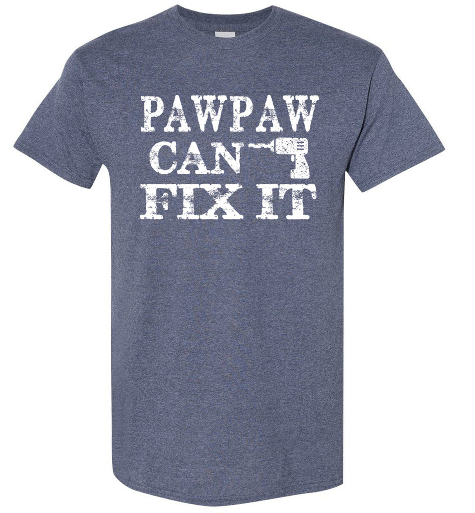 PawPaw Can Fix It Pawpaw T Shirts heather navy