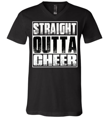 Image of Straight Outta Cheer Shirt unisex v-neck