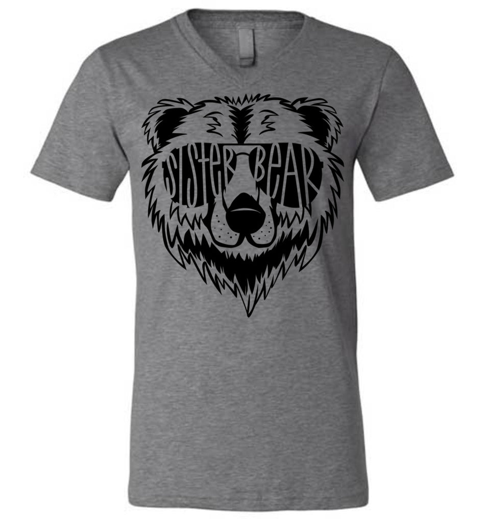 Sister Bear Shirt v-neck deep heather