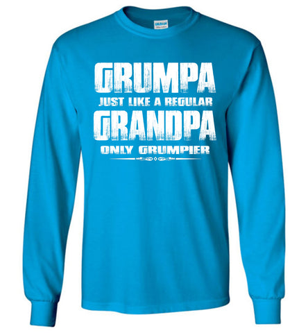 Grumpa Funny Grandpa Long Sleeve Shirts | Grandpa Gag Gifts royal