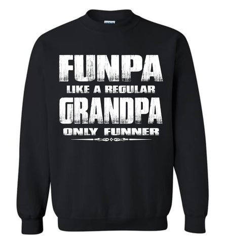 Image of Funpa Funny Grandpa Sweatshirt black