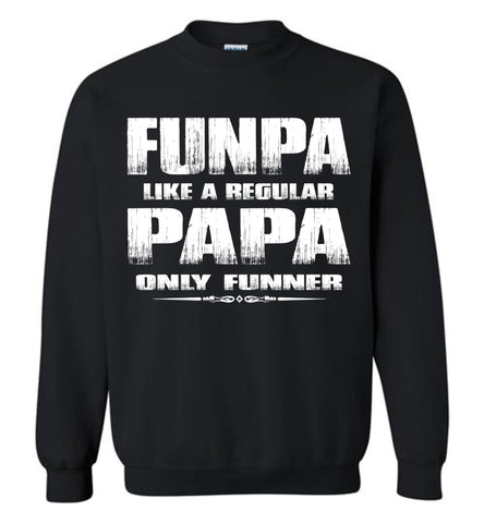 Image of Funpa Funny Papa Sweatshirt black