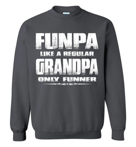 Image of Funpa Funny Grandpa Sweatshirt charcoal