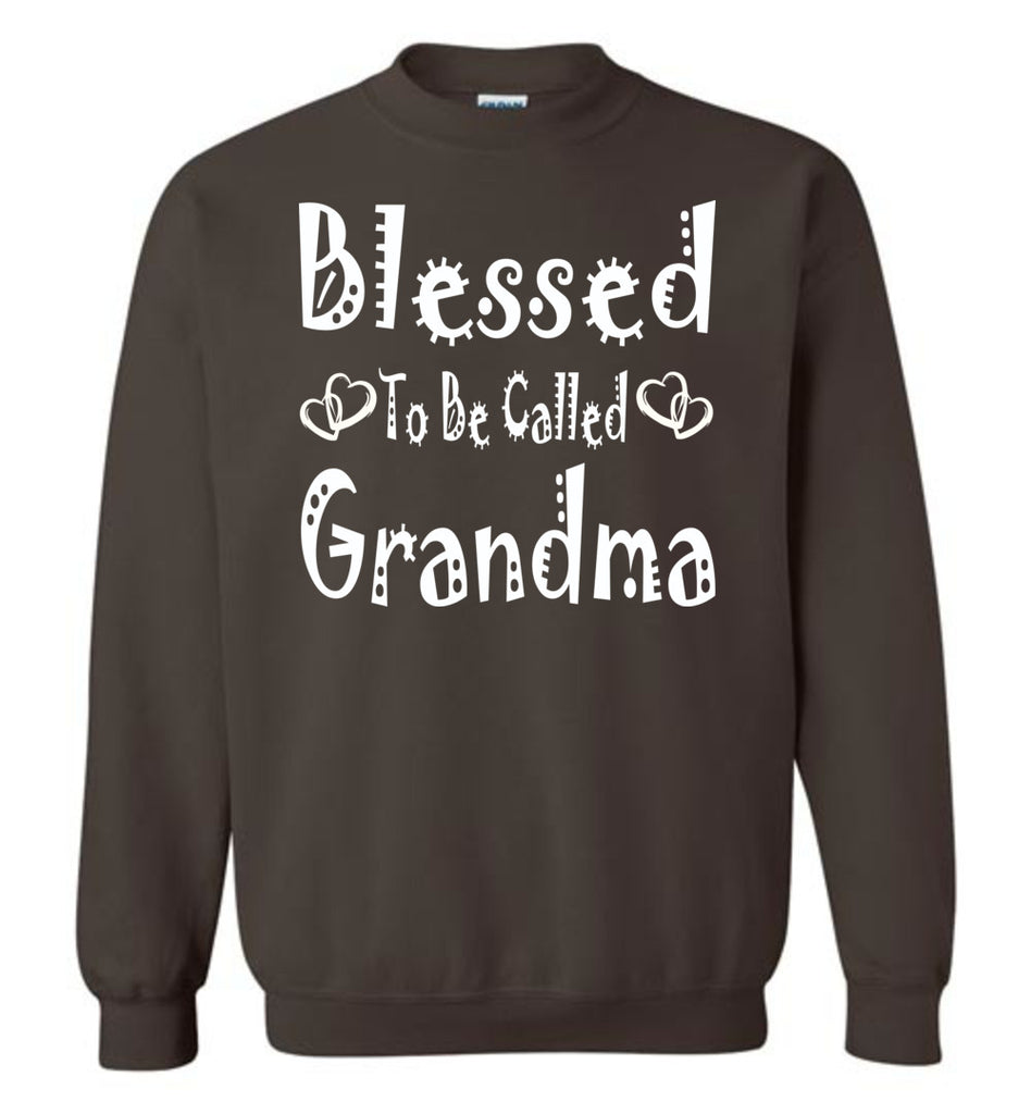Blessed To Be Called Grandma Sweatshirts brown