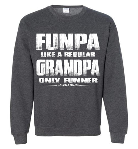 Image of Funpa Funny Grandpa Sweatshirt dark heather