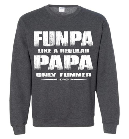 Image of Funpa Funny Papa Sweatshirt dark heather
