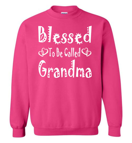 Image of Blessed To Be Called Grandma Sweatshirts pink
