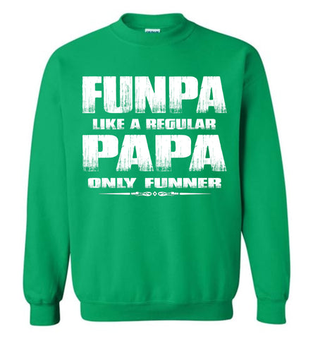 Image of Funpa Funny Papa Sweatshirt green