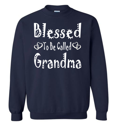 Image of Blessed To Be Called Grandma Sweatshirts navy