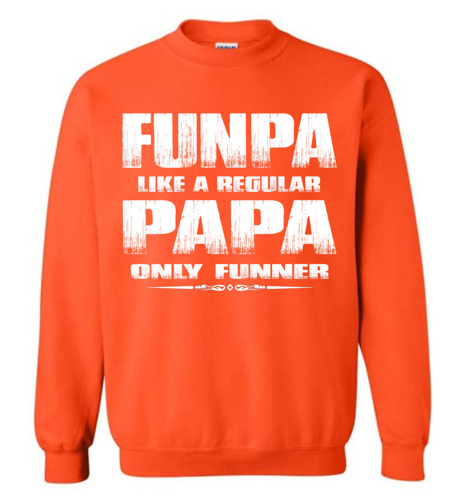 Funpa Funny Papa Sweatshirt orange