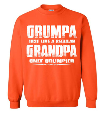Image of Grumpa Funny Grandpa Sweatshirt | Grandpa Gag Gifts orange