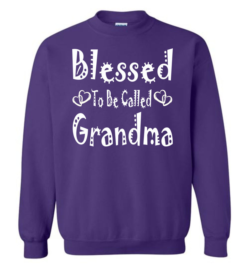 Blessed To Be Called Grandma Sweatshirts purple