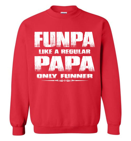 Image of Funpa Funny Papa Sweatshirt red