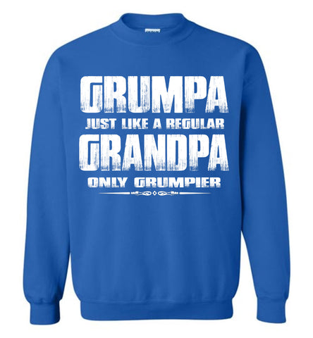 Image of Grumpa Funny Grandpa Sweatshirt | Grandpa Gag Gifts royal