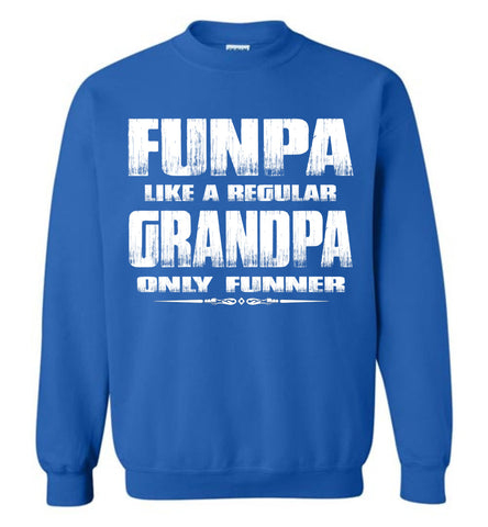 Image of Funpa Funny Grandpa Sweatshirt royal