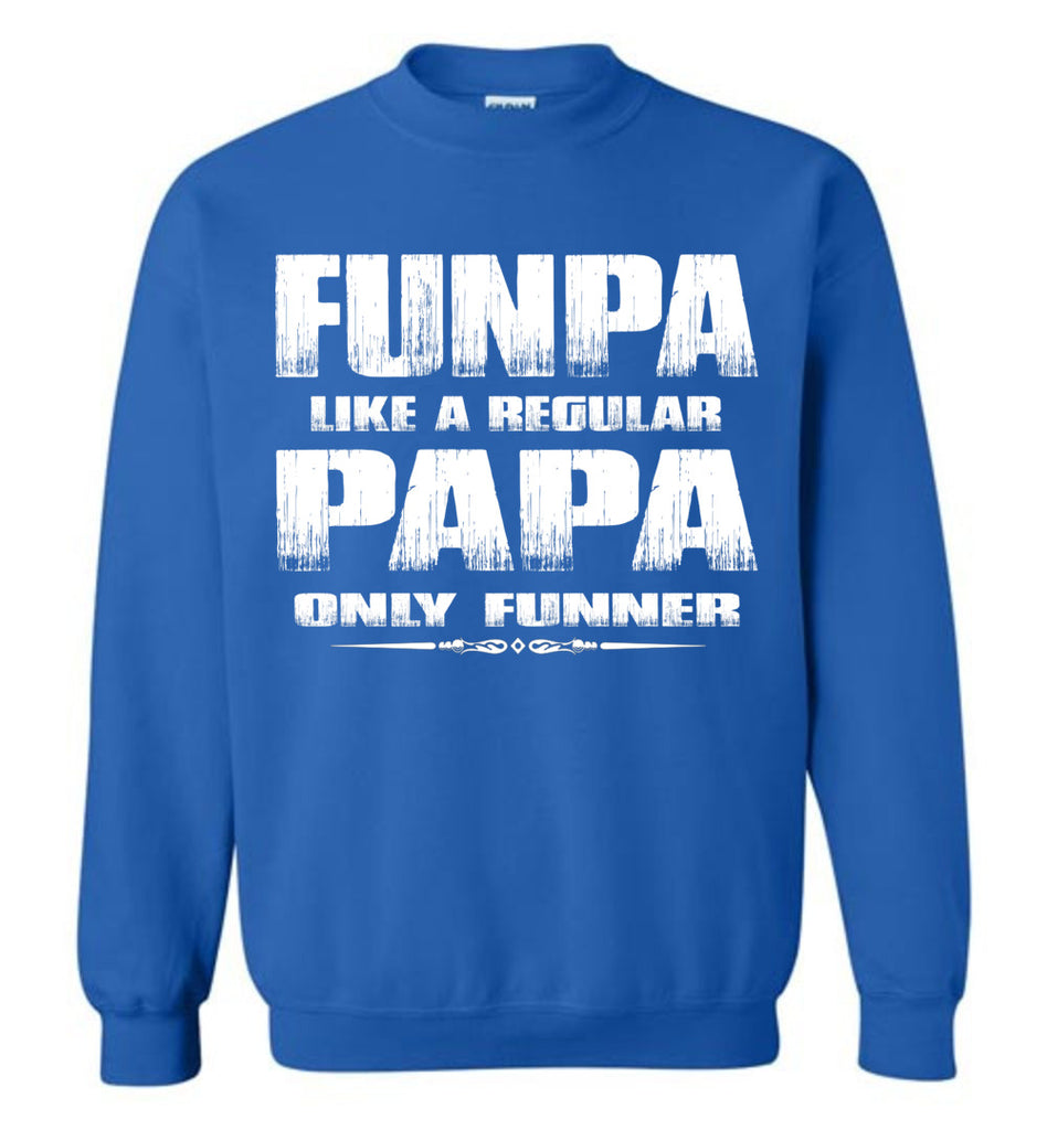 Funpa Funny Papa Sweatshirt royal