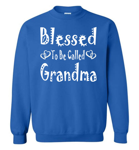Image of Blessed To Be Called Grandma Sweatshirts royal