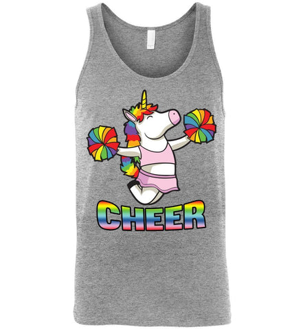 Image of Unicorn Cheer Tank Tops Unisex Tank Athletic Heather