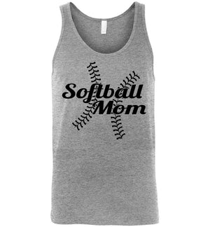 Softball Mom Tank Tops athletic heather