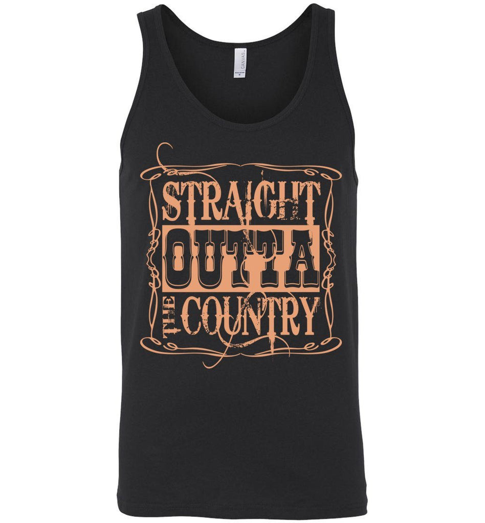 Straight Outta The Country Tank Tops Unisex Tank