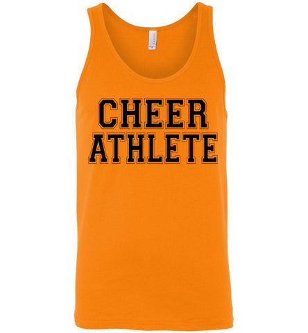 Image of Cheer Athlete Cheer Tank unisex orange