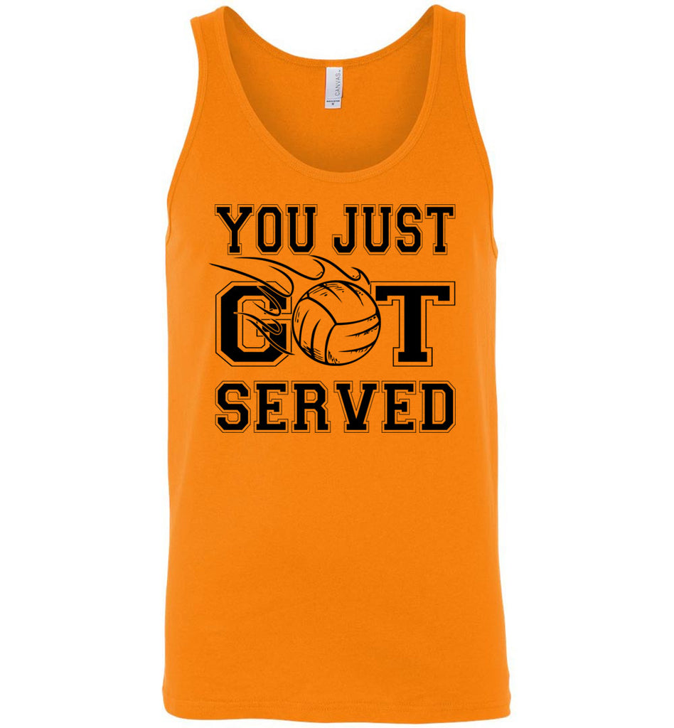 You Just Got Served Volleyball Tank Top unisex orange