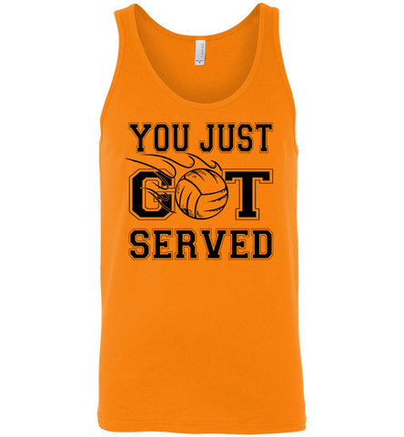 Image of You Just Got Served Volleyball Tank Top unisex orange