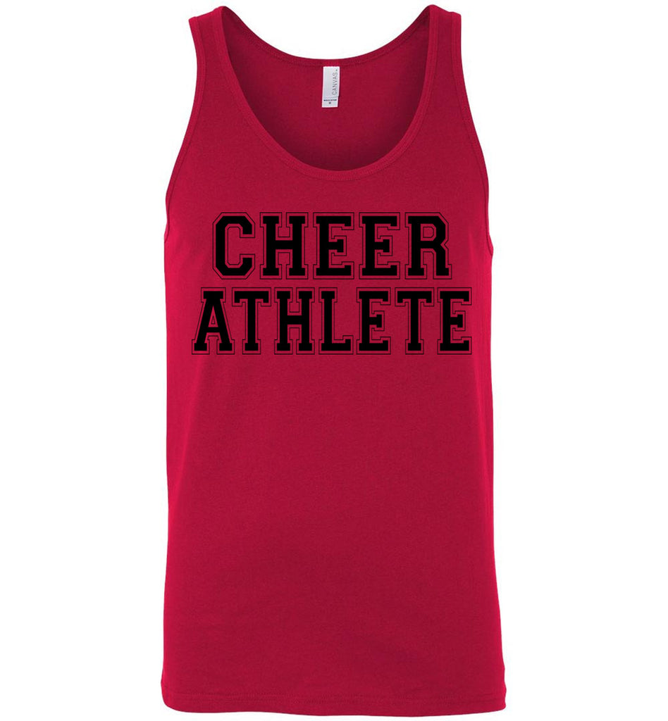 Cheer Athlete Cheer Tank unisex red
