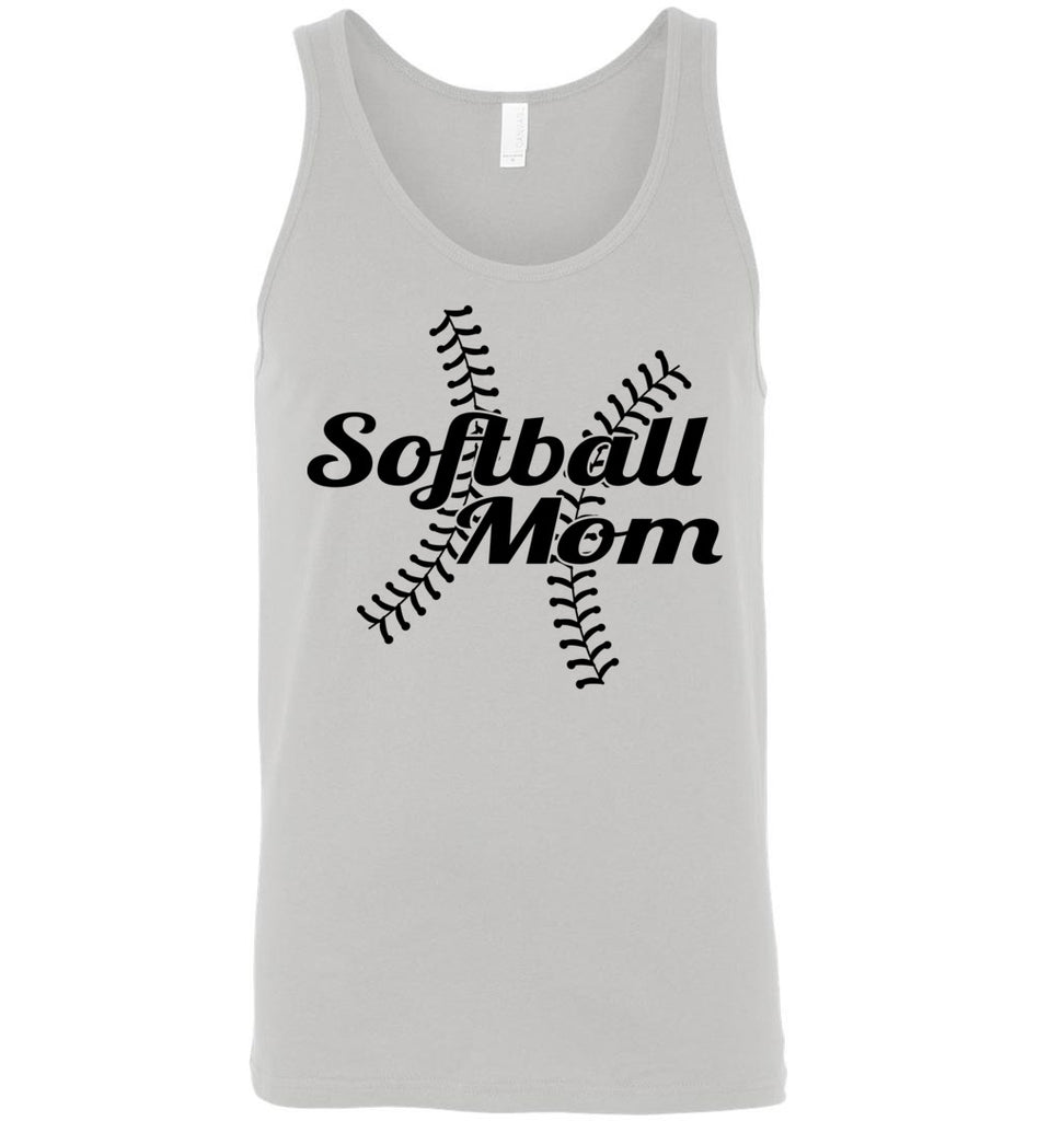 Softball Mom Tank Tops gray