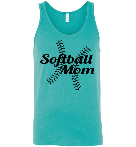Image of Softball Mom Tank Tops teal