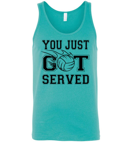 Image of You Just Got Served Volleyball Tank Top unisex teal