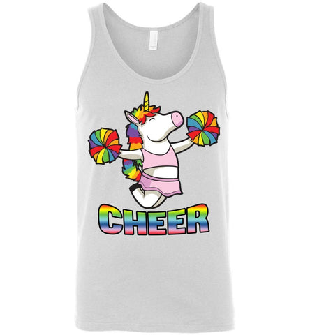 Image of Unicorn Cheer Tank Tops Unisex Tank White