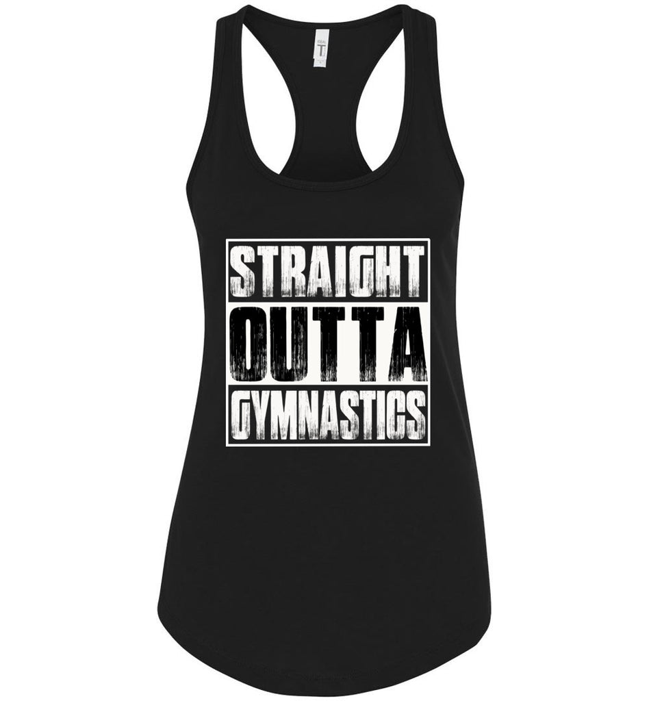 Straight Outta Gymnastics Tank Tops racerback