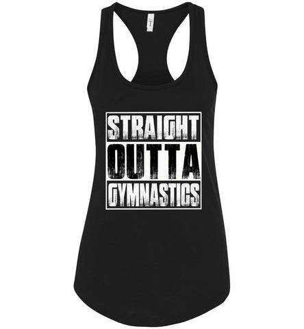 Image of Straight Outta Gymnastics Tank Tops racerback