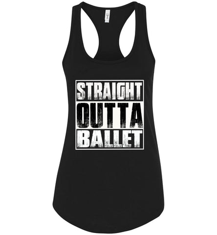 Straight Outta Ballet Tank Top racerback